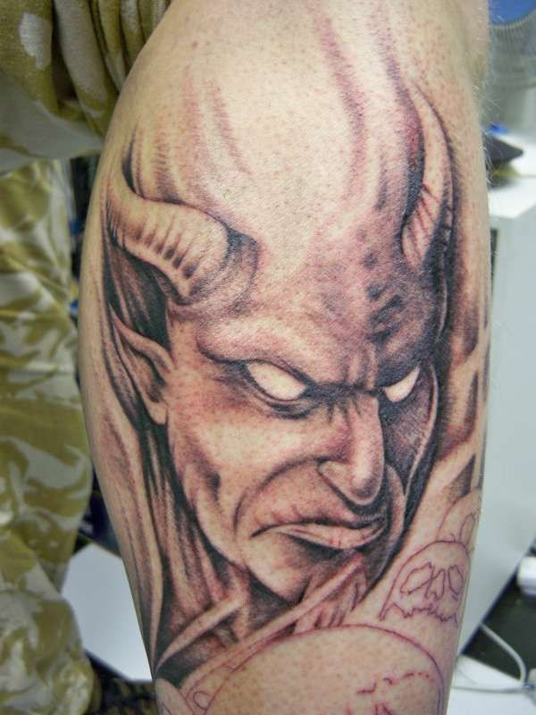 demon face tattoo - photo #43
