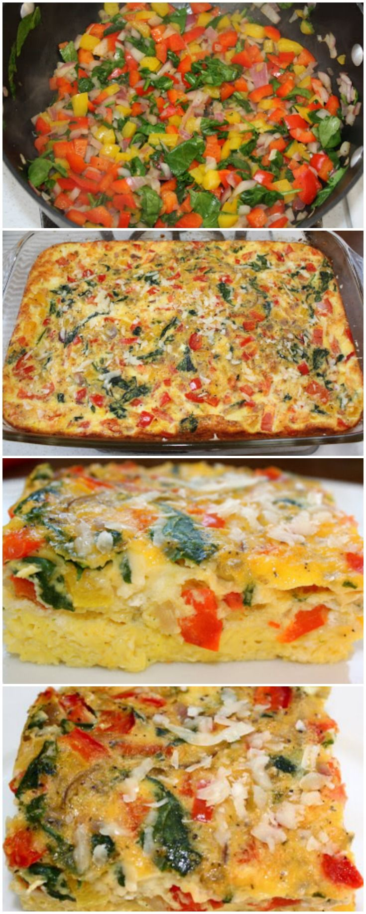 Egg Vegetable Casserole Recipe on twopeasandtheirpod.com Love this easy breakfast recipe! It feeds a crowd too!
