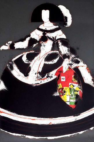 """Manolo Valdés Grabado al Aguafuerte y Collage """"Mariana X"""" 2008 105 x 71.5 cm Tirada de 50 ejemplares Numerado y firmado a mano Precio: 5.900 €"""