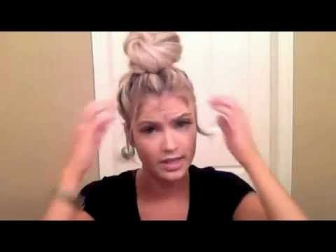 The perfect Top Knot. Video. You have to watch this! It is so easy to do and takes less than a minute! ♥♥