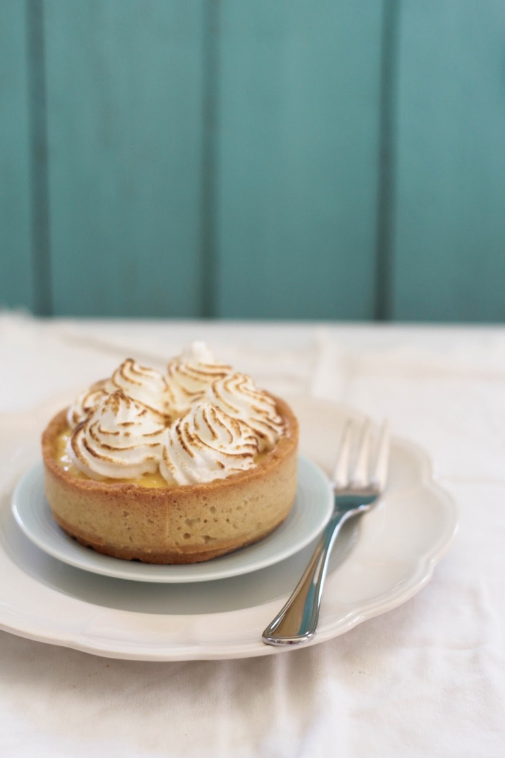 Passionfruit, Chocolate and Coconut Meringue Tart | A Swoonful of Sugar