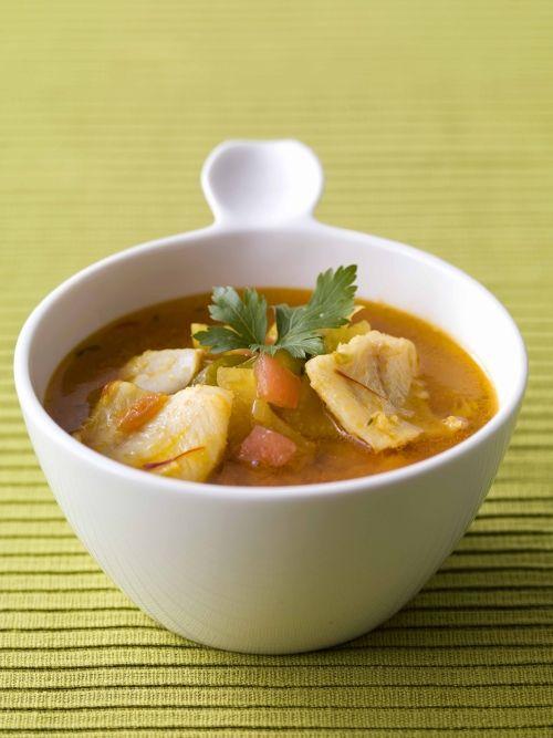 Soupe de poisson au merlan, tomates et fenouil