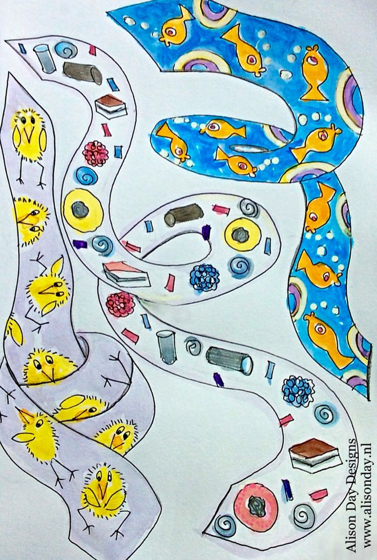 Neckties - Children's art by Alison Day
