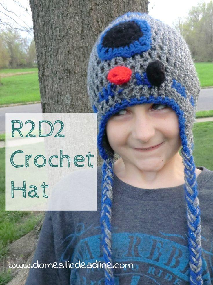Star Wars IV A New Hope Movie Monday Challenge R2D2 Hat Crochet
