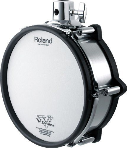 "Roland PD-105X V-Pad by Roland. $429.00. The Roland PD-105X V-Pad 10"" electronic drum pad brings you amazing real-drum feel and response, with a cool finish to match! The PD-105X includes head and rim triggers, for incredibly expressive playing. You can adjust the head's tension to your taste, to make your electronic kit feel like an acoustic kit! For max flexibility, this versatile Roland V-Pad includes dual tom-mount options, and its brushed metal-style shell wrap is actual..."