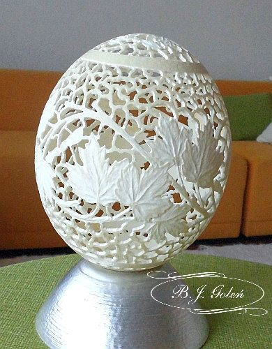 ostrich egg ażurowa wydmuszka strusia