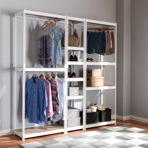 78 7 W 10 Shelf Closet Storage Racking Closet Shelves Closet Storage Storage Closet Organization
