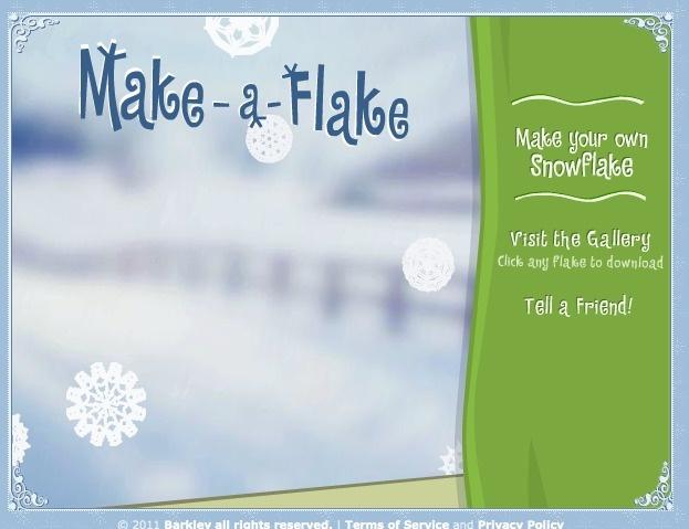 Make-a-Flake - A snowflake maker by Barkley Interactive