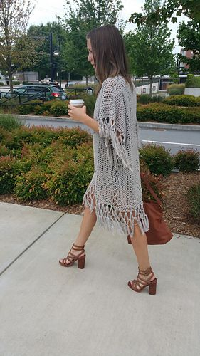 You'll be effortlessly fabulous in this Bohemian Crochet Cardigan! The trendy loose-fitting and triple knotted fringe will add spice to any casual outfit.