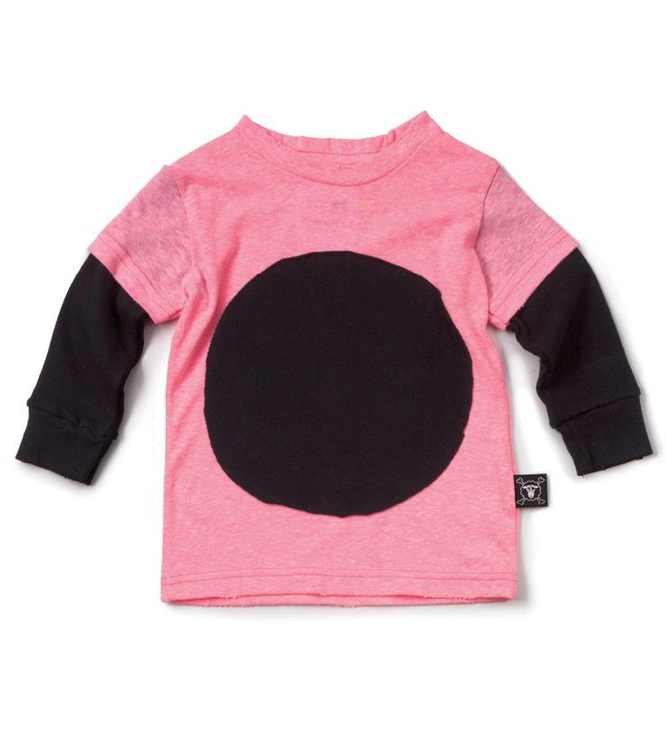 Our Brands :: Nununu :: Circle Patch T-Shirt Neon Pink -