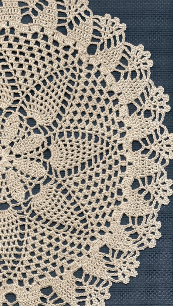 Christmas gift, Crochet doily, lace doily, table decoration, crocheted place mat, doily tablecloth, table runner, napkin, cream