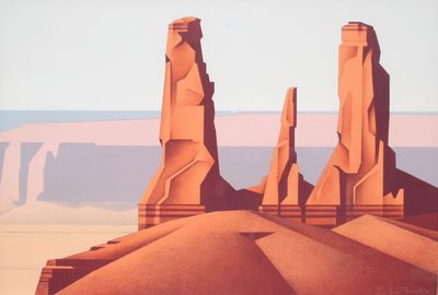 Ed Mell - Three Sisters Lithograph