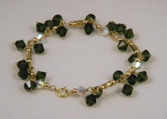Fern Green and Pacific Opal Crystal Bracelet