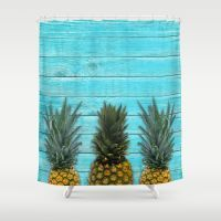 Pineapple summer Shower Curtain