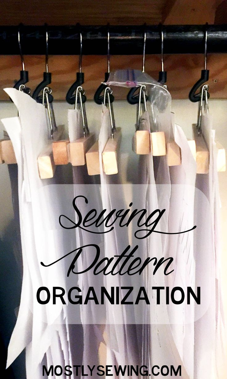 using the Bumerang pant hanger from Ikea for sewing pattern organization is probably the cheapest method I've found yet!