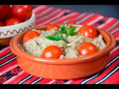 How to make romanian eggplant salad (video) - Retete TV