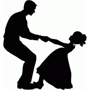 Image result for silhouette of father and daughter dancing