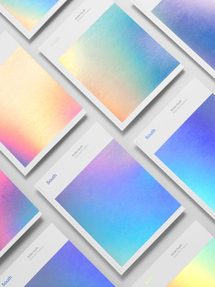 holographic foil, print finish / by Studio South: