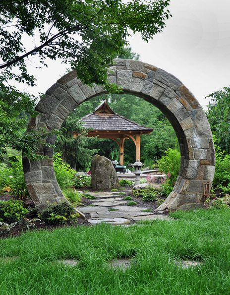 Japanese Garden ⊰✿ Moon Gate, McHale Landscape Design. A Moon Gate, Or