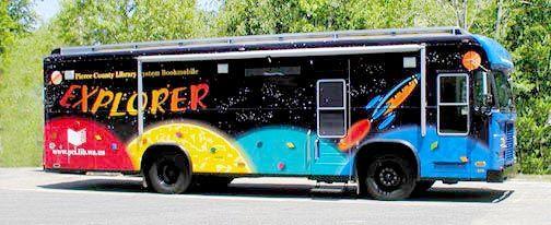 Bookmobile, Pierce County Library Services, Tacoma, Washington.