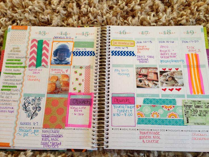 A look inside my Erin Condren life planner #lifeplanner #erincondren