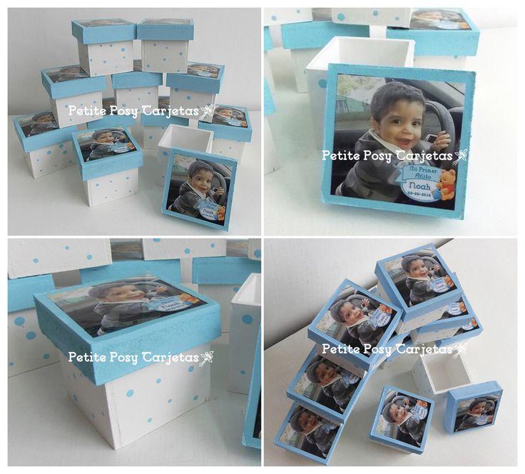Cajas de madera con foto