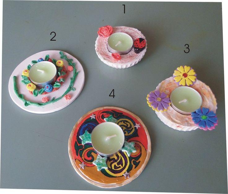 Porta candela fatta a mano, by Laboratorio Elisa Villalba, 6,00 € su misshobby.com