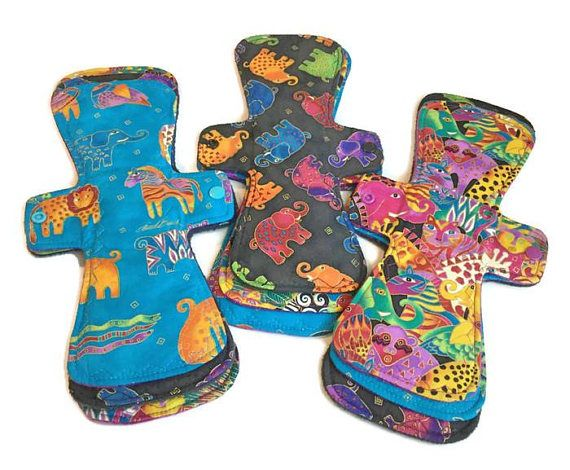 All in One Reusable Cloth Pads Moderate Day Menstrual Pad Set