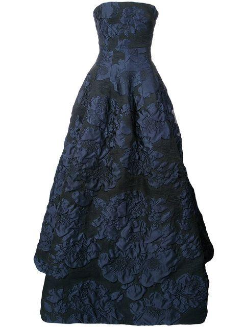 86079cab8c2d2 Shop Oscar de la Renta two-tone cirnkled gown | Wedding | Dresses ...