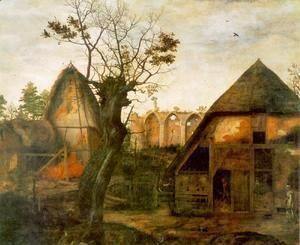 Landscape with Farm 1564  Cornelis Van Dalem