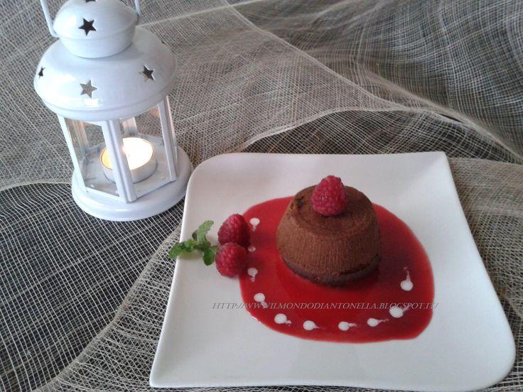 Tortine al cioccolato con cuore ai lamponi,RICETTA PERFETTA E VELOCE