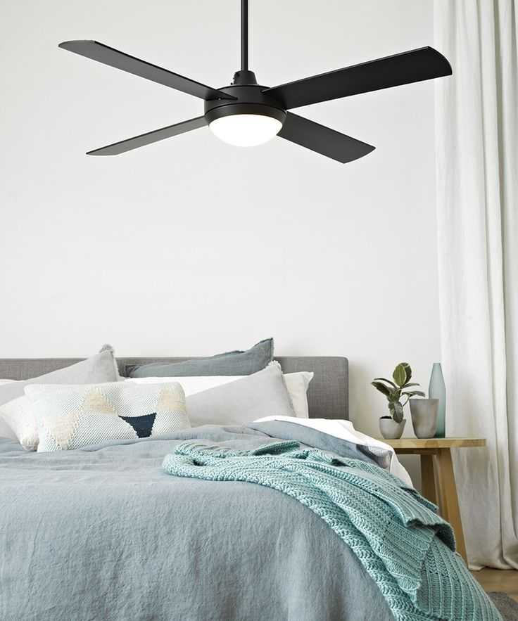 Futura Eco 132cm Fan with LED Light in Black | Ceiling Fans With Lights | Ceiling Fans | Fans