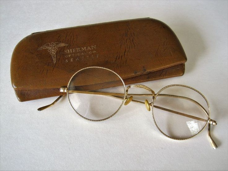 Antique Gold Wire Framed Round Glasses B & L w/Leather/Metal Case Seattle #bauschLomb #Round