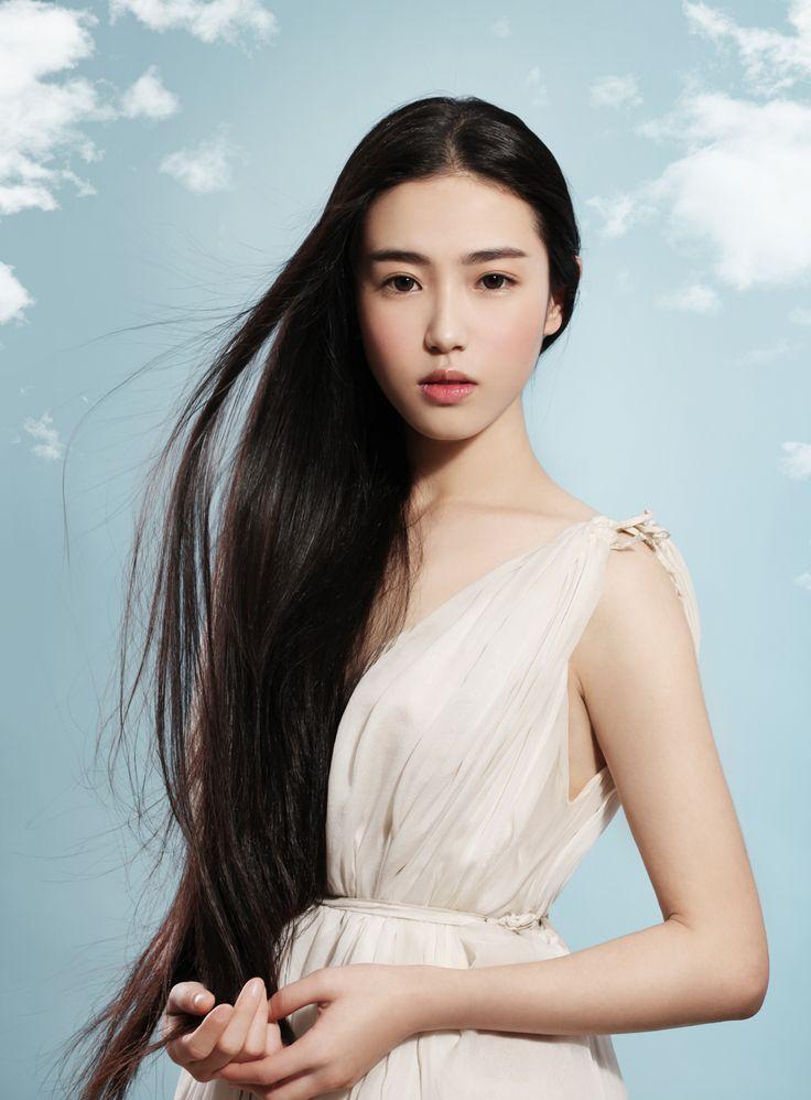 White girls with long black hair — 14