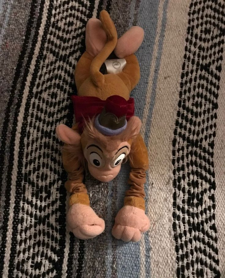 Abu the monkey vintage good condition Disney stuffed