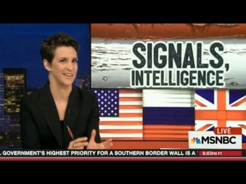 """Rachel Maddow SHow 4/13/17 """"SIGNALS, INTELLIGENCE""""- British Spies Alerte..."""