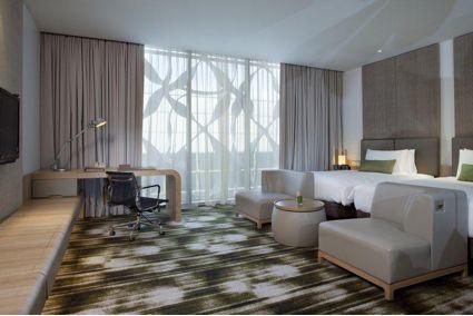 Quarto do Hotel Crowne Plaza Changi Airport