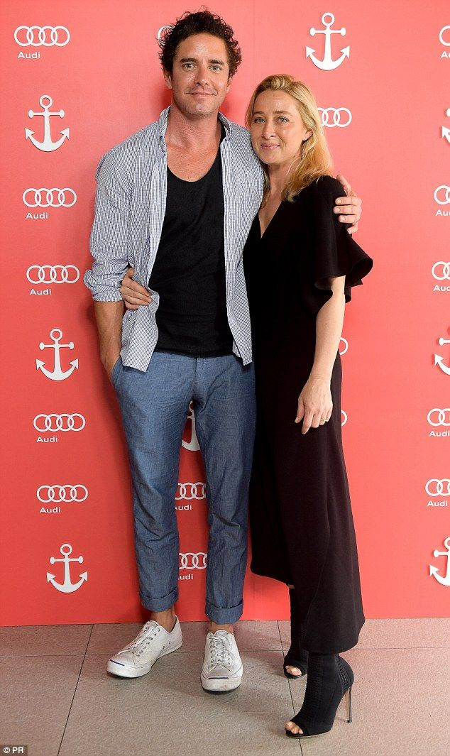 Alone time: Asher Keddie and Vincent Fantauzzo took some time out from parenting and enjoyed a day out at the Audi Race Week in Hamilton Island over the weekend