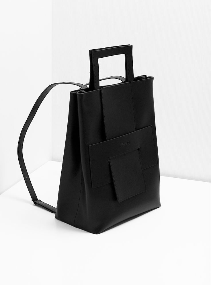 Minimal Backback - structured leather handbag // Orphan Bird | @andwhatelse