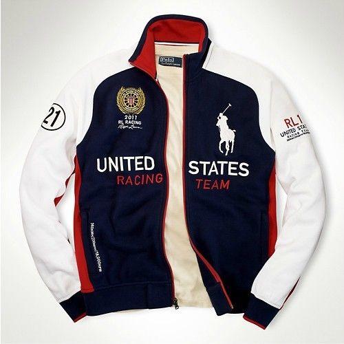 Polo Ralph Lauren Fleece Zip Track Jacket USA