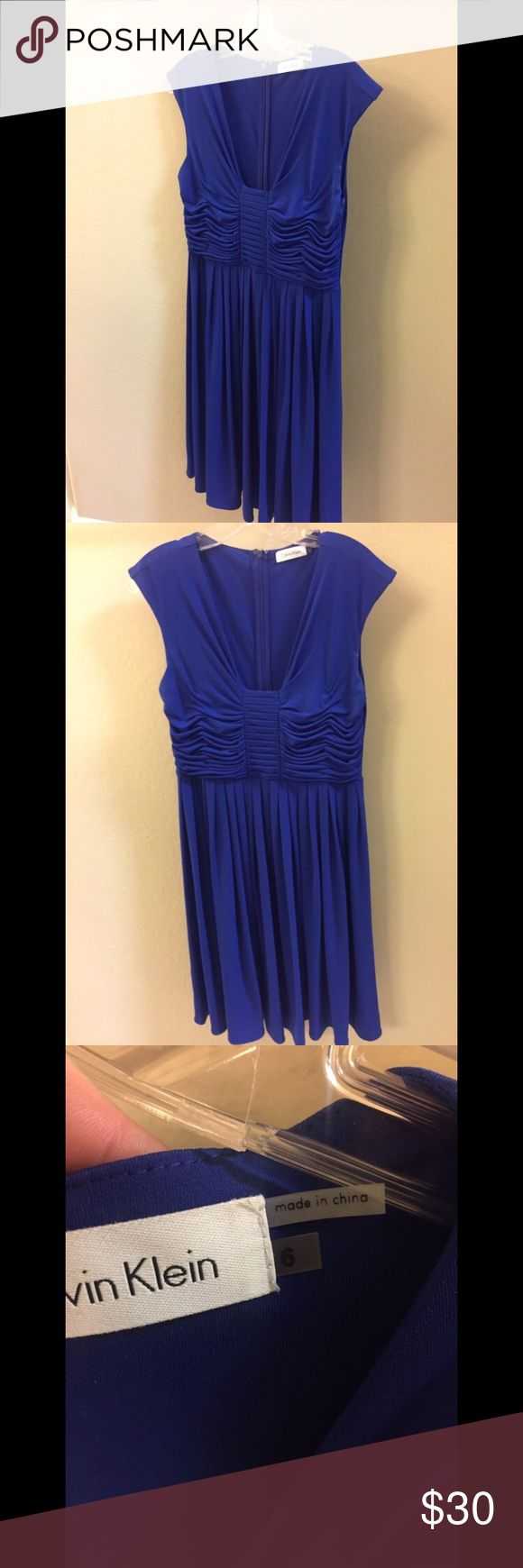 Royal Blue Calvin Klein dress Perfect for summer! Calvin Klein Dresses Midi