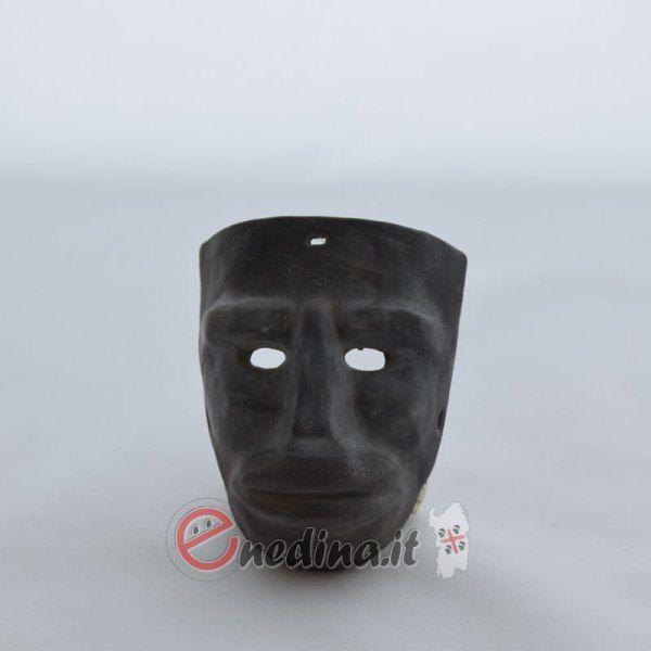 Maschera mamuthone artigianale in terracotta. Sardegna Shop online enedina.it