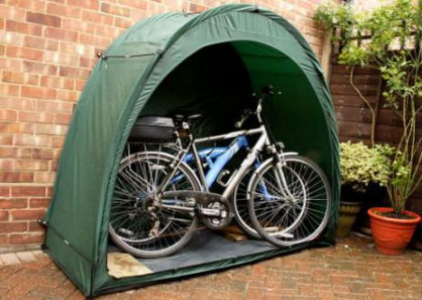 A Bike Shed For Outdoor Bike Storage. Save Your Bicycle From The Elements  When You