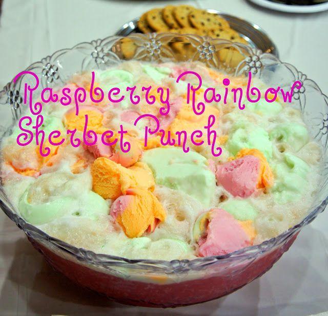 Raspberry Rainbow Sherbet Punch ......so so good