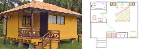Planos Cabaña de 20 m2 Prefabricada
