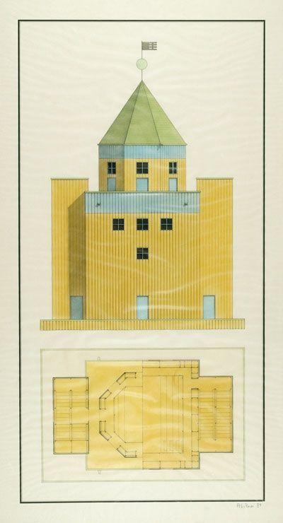 Il Teatro del Mondo ou « théâtre vénitien » fut réalisé par Aldo Rossi en 1979, pour les secteurs « Théâtre et Architecture » de la Biennale...