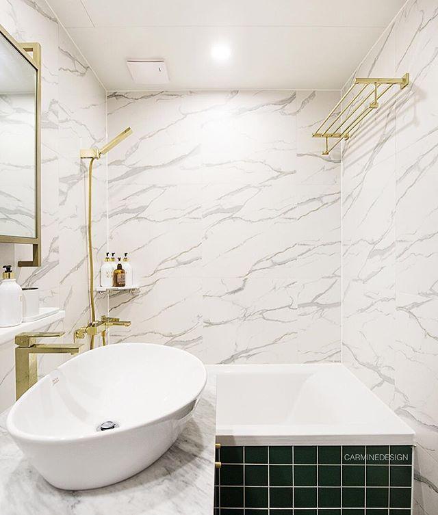 Bathroom Interior Design, Glod & Marble