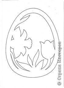 Украшение Пасха Аппликация Вырезание Готовимся к Пасхе Пасхальный декор из бумаги + схемы вытынанок Бумага фото 18