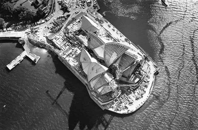 Sydney Opera House aerial - 1966