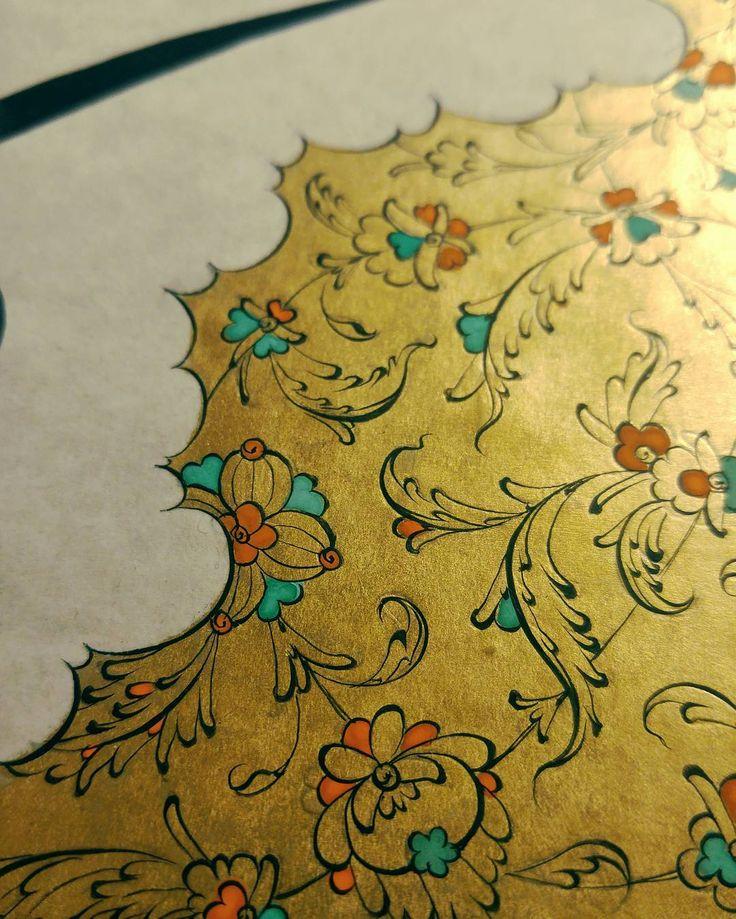#tezhib #hat #hatsanatı #calligraphy #illumination #altın #gold ##islamsanatı #islamicart #islamicartgallery #demart #خت #تزهب #فنون #فن #رسم #üsküdar #istanbul #turkey #suudiarabia